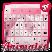 Pink winter Keyboard Animated APK