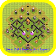 Town Hall 4 Farming Base Layouts APK