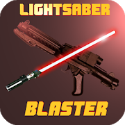Lightsaber vs Blaster Wars (realistic animated) APK