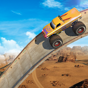 Vertical Ramp - Monster Truck Extreme Stunts APK