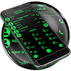 Theme for RocketDial and ExDialer Flat BGreen APK