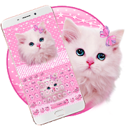 Cute Pink Kitty Keyboard APK