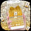 Gold glitter bowknot keyboard APK