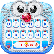 Blue Cat Diamond Keyboard APK