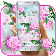 Lovely Pink Orchid Flowers Keyboard APK