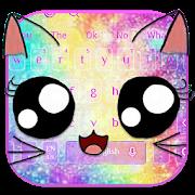 Galaxy Kitty Emoji Keyboard Theme APK