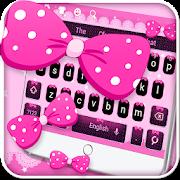 Pink Bow Keyboard Theme APK