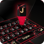 red laser dark keyboard future glass neon APK