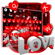 Red Glitter Love Keyboard 10001015 Android Latest Version Download