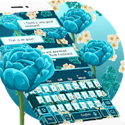 Blue Rose Keyboard Theme APK