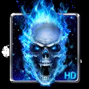 Blue Fire Skull Live Wallpaper APK