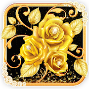 Gold Diamond Rose Live Wallpaper APK