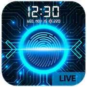 Fingerprint style lock screen for prank APK