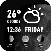 World weather widget& moon phrase information APK