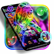 Neon Lion Cool Theme APK