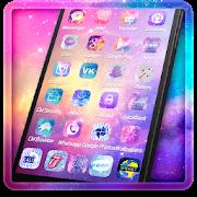 Neon Purple Unicorn Theme APK