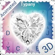 Shiny Diamond Heart 3D Theme&Emoji Keyboard APK
