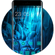 Neon Blue Live Wallpaper & Icon Pack APK