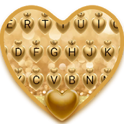 Golden Love Theme&Emoji Keyboard APK