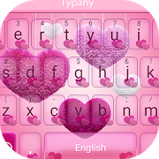 Fluffy Love Heart Theme&Emoji Keyboard APK