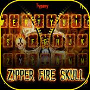 Zipper Fire Skull Theme&Emoji Keyboard APK