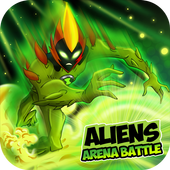 Aliens Arena: Mega Alien War Transform app in PC - Download