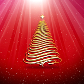 3D Christmas Tree Wallpaper