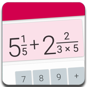 Fractions Calculator - detailed solution available  For PC