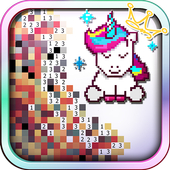 Unicorn of Love: The Number Coloring by Pixel Arts For PC