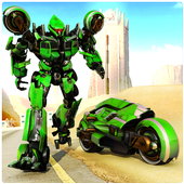 Real Moto Robot Transform: Flying Bike Robot Wars 1.0.26 Android for Windows PC & Mac