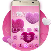 Fluffy diamond Hearts Theme: Pink Comics Launcher  Latest Version Download