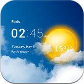 Transparent clock & weather Latest Version Download
