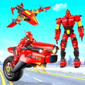 Download Flying Moto Robot Hero Hover Bike Robot Game 4 APK File for Android