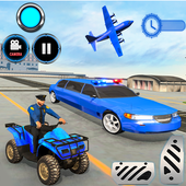 US Police limousine Car Quad Bike Transporter Game  Latest Version Download
