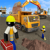 Download Stickman City Construction Excavator 1.4 APK File for Android