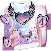 Cute Galaxy Wings Keyboard Theme  APK 1.0