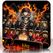 Fire Skull Rider Keyboard Theme  For PC