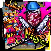Graffiti Gun Mask Skull Keyboard Theme  APK 1.0