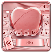 Silk Rose Gold Apple Keyboard for Phone 8 , OS11 APK