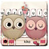 Valentine Owls Love Keyboard Theme  APK 1.0