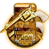 Western Gold Gun Keyboard Theme  APK 1.0