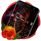 Red Flame Keyboard theme