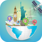 Earth Map Live : GPS Tracking - Voice Navigation