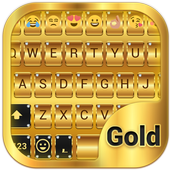 Gold Emoji Keyboard Theme 1.1.2 Android Latest Version Download