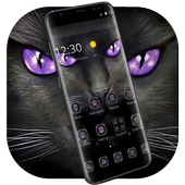 Black Evil Cat Dark Theme  Latest Version Download