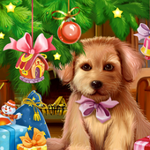 Christmas Puppy Live Wallpaper