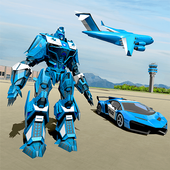 US Police Robot Car Game – Police Plane Transport