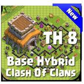 Maps COC TH 8 Hybrid Base