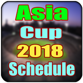 Asia Cup Cricket 2018 match schedule