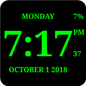 Download Digital Clock Live Wallpaper-7 2.61 APK File for Android